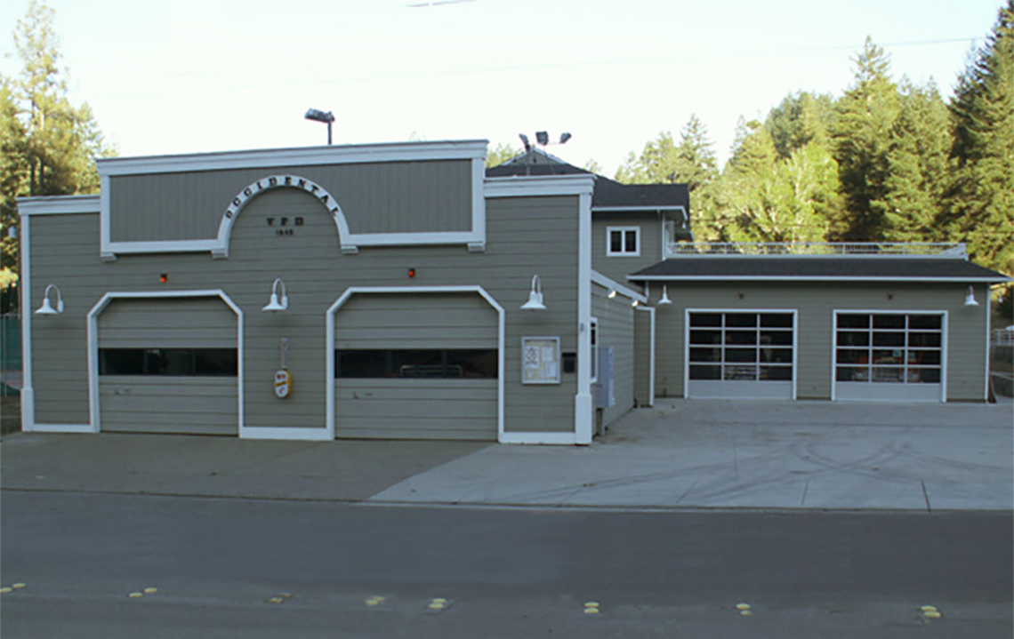 Coy Brown Painting - OCCIDENTAL FIRE DEPARTMENT exterior painting